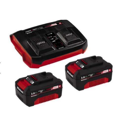 Einhell 2x3,0Ah & Twincharger Kit 2db akku+töltő szett