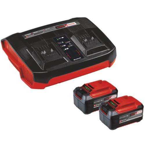 Einhell 2x5,2 Ah & Twincharger Kit 2db akku+töltő szett